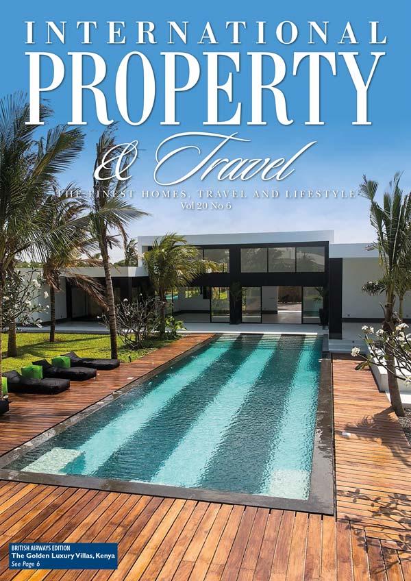 Luxury Villas, Kenya on front of British Airways magazine